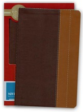 NIV Life Application Study Bible, Personal Size, European Leather, Chocolate/Tan 1984, Case of 12