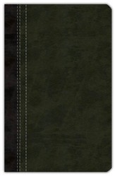 NIV Life Application Study Bible, Personal Size, Italian Duo-Tone, Bark/Dark Moss 1984, Case of 12