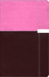 NIV Life Application Study Bible, Personal Size, Italian Duo-Tone, Orchid/Chocolate 1984 - Imperfectly Imprinted Bibles