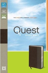 NIV Quest Study Bible: The Question and Answer Bible, Imitation Leather, Brown Gray - Slightly Imperfect