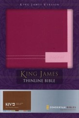 King James Version Thinline Bible, Italian Duo-Tone™, Razzleberry/Orchid