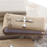 Spoon Cross Burlap Photo Album, Small