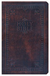 NIV Reference Bible--bonded leather, antiqued brown  1984 - Imperfectly Imprinted Bibles