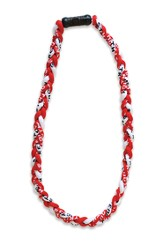Be Strong and Courageous Sports Necklace, Red and White