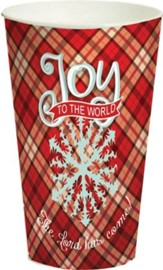 Joy to the World, Plaid Cup, Large