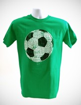 Soccer Word Shirt, Green, Large