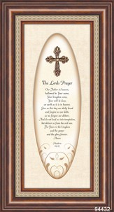 The Lord's Prayer with 3D Cross Framed Print