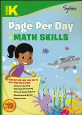 Kindergarten Page Per Day: Math Skills