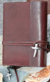 Leather Wrap Bible Cover, Burgundy, Extra Large