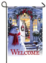 Welcome Snowman Flag, Small