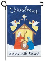 Christmas Begins with Christ, Garden Flag