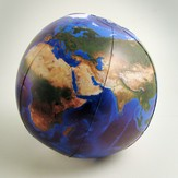 Inflatable Light Up Blue Marble Topographical Earth Globe (12 Diameter)