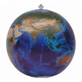 Inflatable Blue Marble Topographical Earth Globe (12 Diameter)