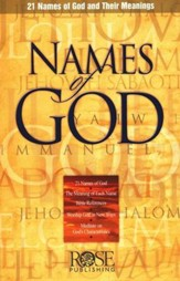 Names of God: 21 Names of God and Their Meanings Pamphlet