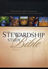 NIV Stewardship Study Bible, hardcover  - Slightly Imperfect