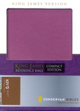 King James Version Compact Reference Bible, Italian Duo-Tone, Orchid/Butter Cream
