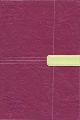 Zondervan King James Study Bible, Italian Duo-Tone, Plum/Melon Green