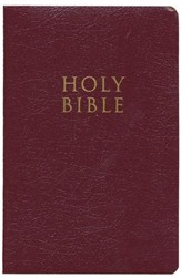 King James Version Gift & Award Bible, Burgundy - Imperfectly Imprinted Bibles