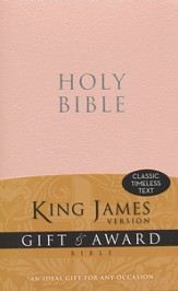 King James Version Gift & Award Bible, Pink