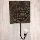 Rejoice in the Lord Metal Wall Hook