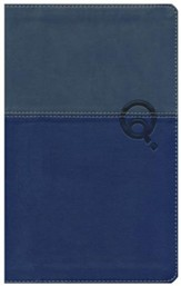 NIV Quest Study Bible, Personal Size: The Question and Answer Bible, Imitation Leather, Blue Blue - Imperfectly Imprinted Bibles