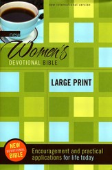 NIV New Women's Devotional Bible, Hardcover, Large  Print 1984
