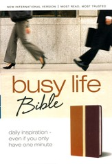 Busy Life Bible, Daily Inspiration-Even If You Only Have One Minute, Italian Duo-Tone ™,Tan/Rich Red,NIV 1984