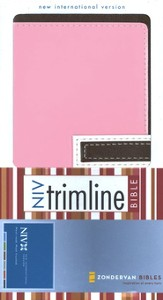 NIV Trimline Bible, Italian Duo-Tone ™, Chocolate/Pink 1984