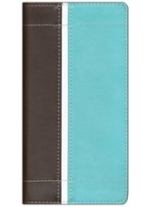 NIV Trimline Bible, Italian Duo-Tone ™, Turquoise/Chocolate 1984