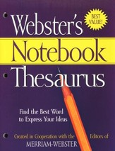 Webster's Notebook Thesaurus
