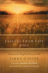 NIV Lessons from Life Bible: Personal Reflections with Jimmy Carter - Slightly Imperfect