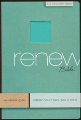 NIV Renew Bible: Refresh Your Heart, Soul & Mind Linen, Spa Green 1984