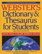 Webster's Dictionary & Thesaurus for Students: Completely Revised and Updated, Second Edition