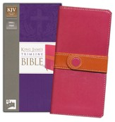 King James Version Trimline Bible, Bright Pink Orange