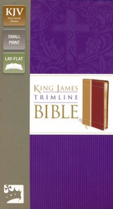 King James Version Trimline Bible, Camel Rich Red