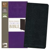 King James Version Trimline Bible, Black - Imperfectly Imprinted Bibles