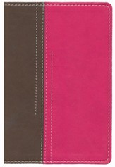 NIV Thinline Bible for Girls, Compact Chocolate/Pink Duo-Tone