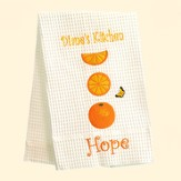 Personalized, Hope Kitchen Towel, with Oranges