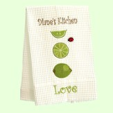 Personalized, Love Kitchen Towel, With Limes