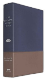 NKJV Jeremiah Study Bible, Soft leather-look, Navy/tan (indexed)