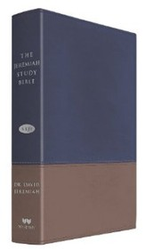NKJV The Jeremiah Study Bible, Soft leather-look, Navy/tan