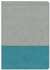 NKJV The Jeremiah Study Bible, Soft leather-look, Gray/teal