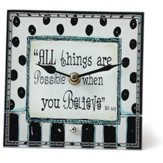 All Things Are Possible, Decorative Clock