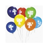 Cross Balloons, Package of 12