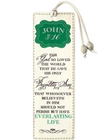For God So Loved the World Leather Bookmark