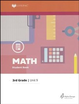 Grade 3 Math Lifepac 9: Multiplication Facts, Metrics, Perimeter and Area