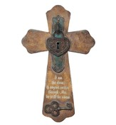 Wall Cross with Heart Lock