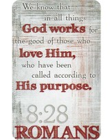 God Works For the Good Of Those Who Love Him Pocket Card