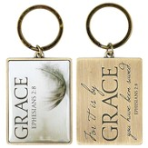 For It Is By Grace Keyring, Ephesians 2:8