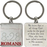 God Works For the Good Of Those Who Love Him Keyring